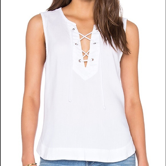 Bella Dahl Lace Up Tank